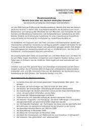 Informationen [310 KB] - Bundesstiftung zur Aufarbeitung der SED ...