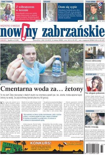 Cmentarna woda za… żetony - Nowiny Zabrzańskie