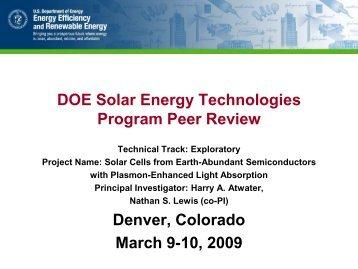 Earth-Abundant Semiconductors - EERE