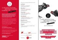 Festival-Flyer als PDF - Kölner Festival des politischen Kabaretts