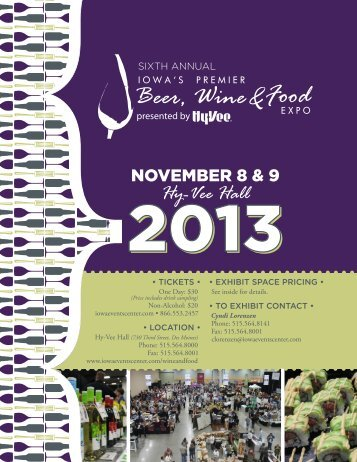 Exhibitor Brochure - Iowa's Premier Beer, Wine & Food Expo