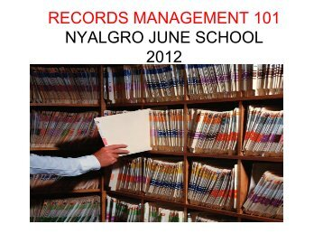Gina Doty Records Manager - New York Association of Local ...