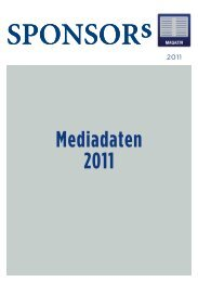 Mediadaten 2011 - SPONSORs