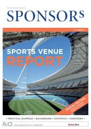sports venue report special feature - SPONSORs