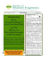 March 2011 Newsletter - Baton Rouge