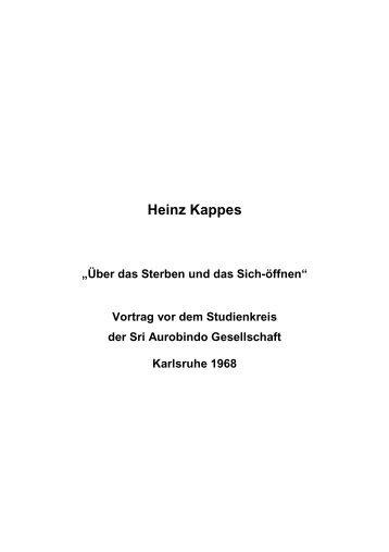 T-0276 - Über das Sterben und Sich Öffnen - Heinz Kappes