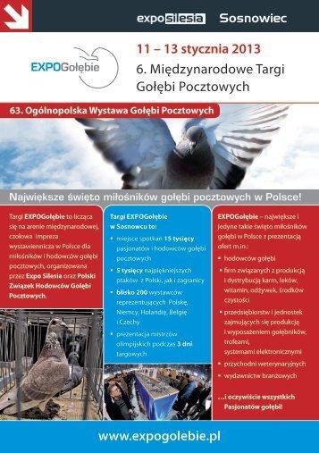 11 – 13 stycznia 2013 6. Międzynarodowe Targi ... - Expo Silesia