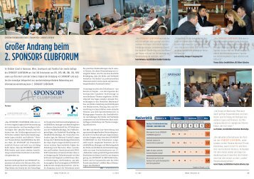 Teilnehmer SPONSORs CLUBFORUM 2006