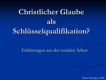 Christlicher Glaube als Schlüsselqualifikation? - Buchenauer Kreis