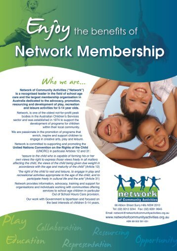 Collaboration - Network of Community Activities