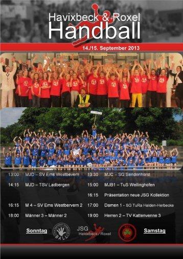 Heimspielheftchen V2 14_09_2013 - SW Havixbeck Handball