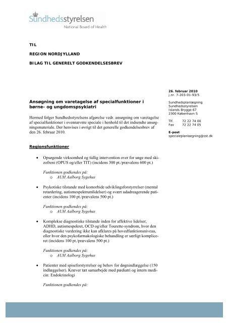 Ansøgning om varetagelse af specialfunktioner i børne - Region ...