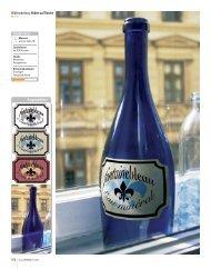 Bildbearbeitung: Etikett auf Flasche - bredenfeld.com