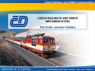 Czech Railways and GSM-R implementation ... - EURO - Žel