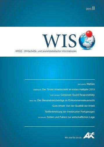 WISO Ausgabe 2013/II - Arbeiterkammer
