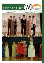 Generation W 2013/2 - Freie Waldorfschule Lörrach