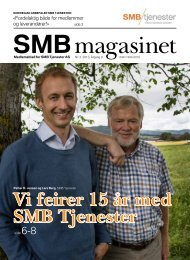 SMB Magasin 3/2013 - SMB Tjenester AS