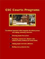 CSC's Courts Programs - Community Service Council