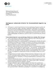 • I DI mener vi, at det forslag til kriterier for ... - Dansk Industri