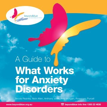 A Guide To What Works For Anxiety Disorders - Mental Health First Aid