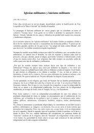 Iglesias militantes y laicismo militante - Laicos