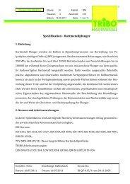 Spezifikation - Hartmetallplunger - TRIBO Hartmetall GmbH