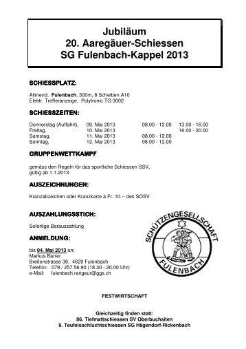 Schiessplan 2013