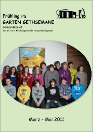Frühling 2011 in A4 neu - Kirchengemeinde Gethsemane