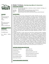 Wally P. Erickson,Chief Operating Officer/Sr. Biometrician - WEST, Inc.