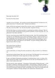 Darmstadt, Dezember 2013 Ein frohes Fest Ihnen allen! Angelika ...