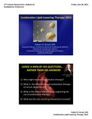 Combination Lipid-Lowering Therapy - CME Conferences