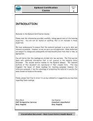 Epidural Certification Course for Nurses 2010 - West Coast District ...