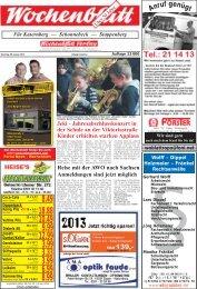 Wochenblatt Ausgabe vom 08.Januar 2013 - 45309 Essen ...