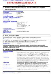 SICHERHEITSDATENBLATT - Essential Industries