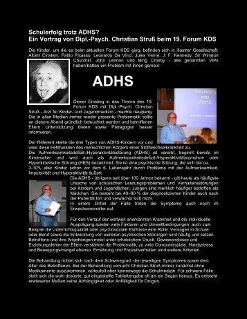 Schulerfolg trotz ADHS? Ein Vortrag von Dipl.-Psych. Christian ...