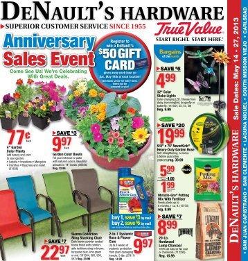 May 2013 Sale Flyer - DeNaults True Value Hardware
