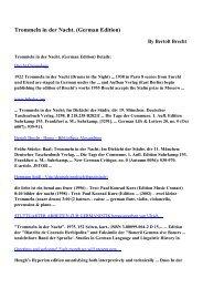 Download Trommeln in der Nacht. (German Edition) pdf ebooks by ...