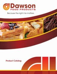 to download the catalog - Dawson Food Products