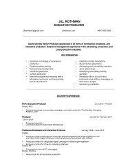 Download 2011 Resume (PDF) - Jill Rothman