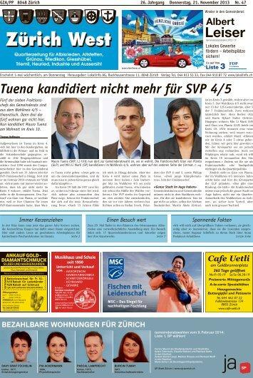Tuena kandidiert nicht mehr für SVP 4/5 - Lokalinfo AG