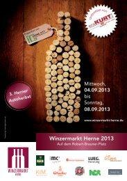 Broschüren - Winzermarkt Herne