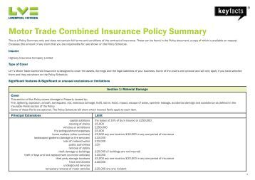 Kennco Combined Motor Trade Proposal Form Version 2 09 04 13