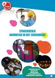 Stageboekje animator in het jeugdwerk - Jeugd Rode Kruis