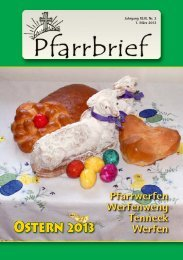 Pfarrbrief Ostern 2013 - werfenweng.gv.at