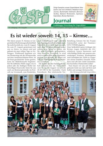 Gispi-Journal - Heese- Wagner