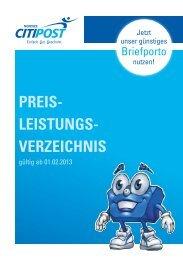 (gültig ab 01.02.2013) als PDF downloaden. - CITIPOST Nordsee