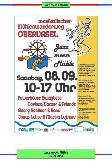 Jazz meets Mühle - Verein für Geschichte und Heimatkunde ...