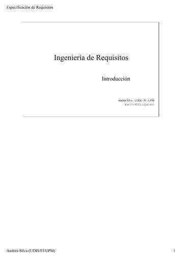 Ingeniería de Requisitos - sisman