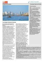 Zielgebietsinformation Vereinigte Arabische Emirate