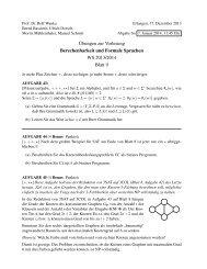 ¨Ubungen zur Vorlesung Berechenbarkeit und Formale Sprachen ...